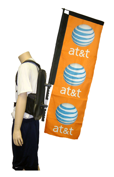 Back Pack Advertising And Walking Billboard Wow